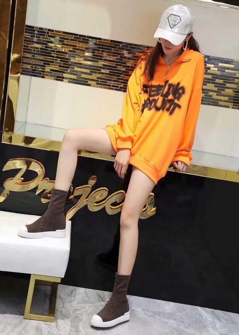 Buena 2019 y Otoño Invierno nueva de la manera Botas de fondo plano y exquisito exterior adolescente Zapatos