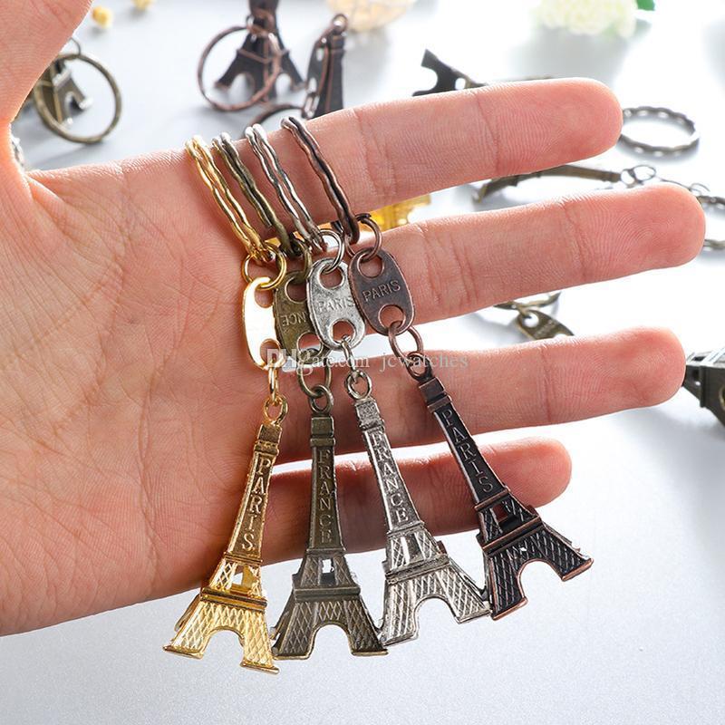 خمر 3D باريس برج ايفل المفاتيح تذكارية الفرنسي سلسلة المفاتيح كيرينغ مفتاح الدائري سلسلة حزب بالجملة صالح هدية