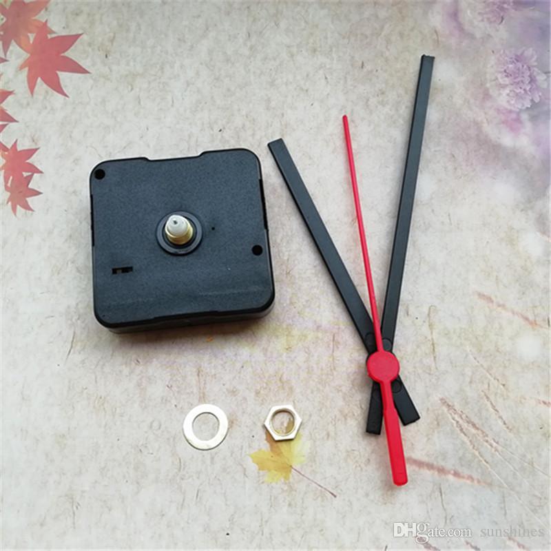Atacado 50 PCS 12 MM Varredura Do Eixo Relógio de Quartzo FIT-UP com Mãos de Plástico DIY Kits de Reparação Frete Grátis