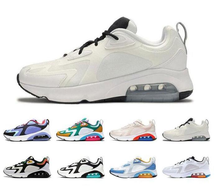 Nike Shoes  200 Chaussures de course 2020 Formateurs New Hommes Femmes Arrivée 200s Chaussures Sport Teal Bordeaux Hot Desert Sand Chaussures de sport 36-45