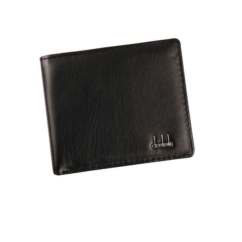 ISHOWTIENDA PU Deri Cüzdan Erkekler Moda Bifold Erkek Kısa Kart Cüzdan Erkekler Için PU Deri Sikke çanta Kart Sahibinin # WL