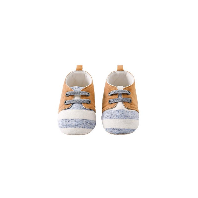 Pureborn Yenidoğan Bebek Boy Kaymaz Baby Boy İlk Yürüyenler Elastik sapanlar Yumuşak Taban Ayakkabı Sneakers Ayakkabı