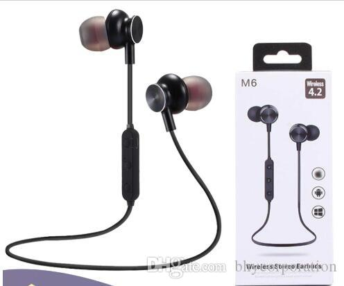 New M6 Bluetooth Headphone Magnetic Wireless Sport Headset Earphones With Mic Stereo Handfree Earbuds For Xiaomi Samsung With Retail Box Best Bluetooth Earbuds Best Headphones Under 100 From Bhycorporation 3 42 Dhgate Com