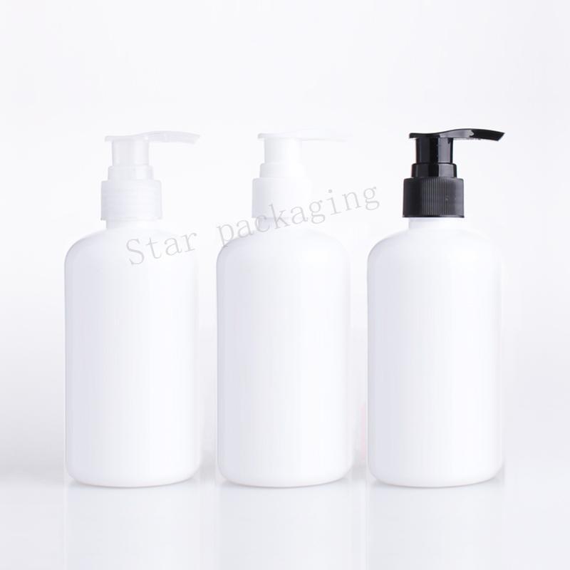20pcs 250 beyaz yuvarlak losyon pompa şişe, sıvı sabun dağıtıcı ile kozmetik ambalaj beyaz şampuan kaplar