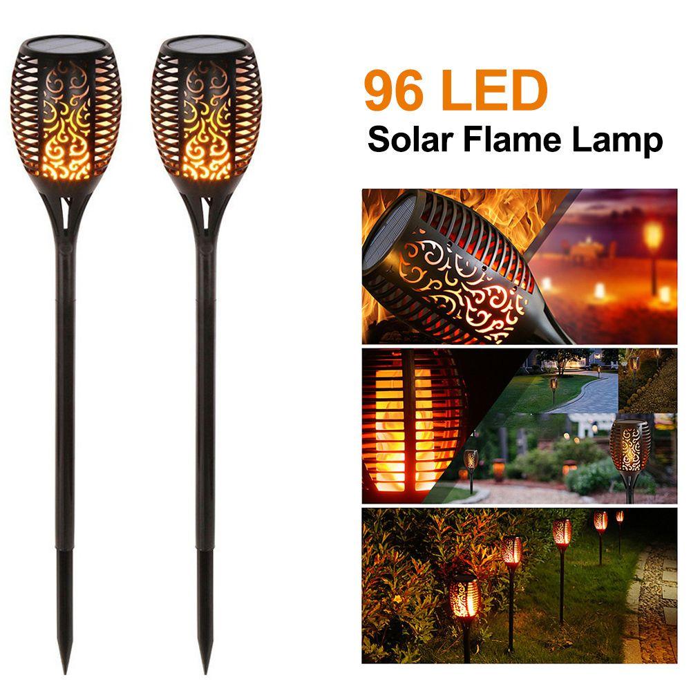 NewSolar Flame Light Solar Torch light Flickering IP65 Waterproof Outdoor Solar Flame Lamp Landscape Light Lawn Lamp Path Lighting Spotlight