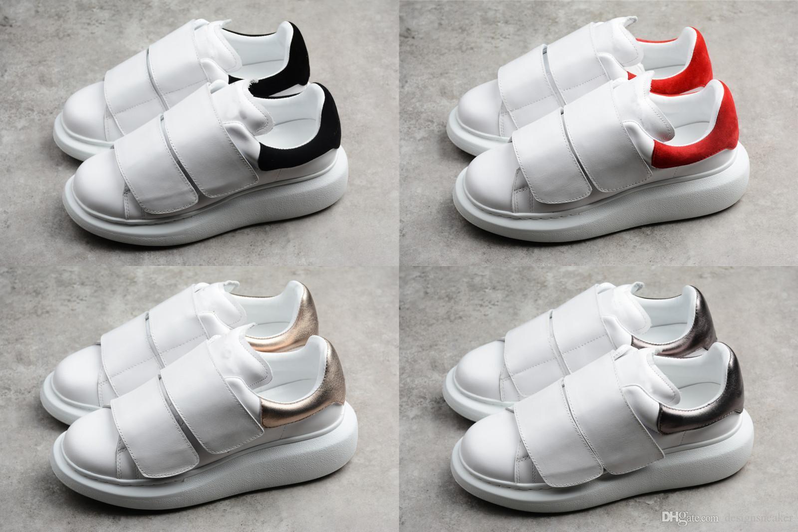 Moda Lüks Tasarımcı Kadınlar Ayakkabı Erkekler Rasgele Erkek Tasarımcı Ayakkabı Magic Tie Deri Parti Elbise Ayakkabı Sneakers