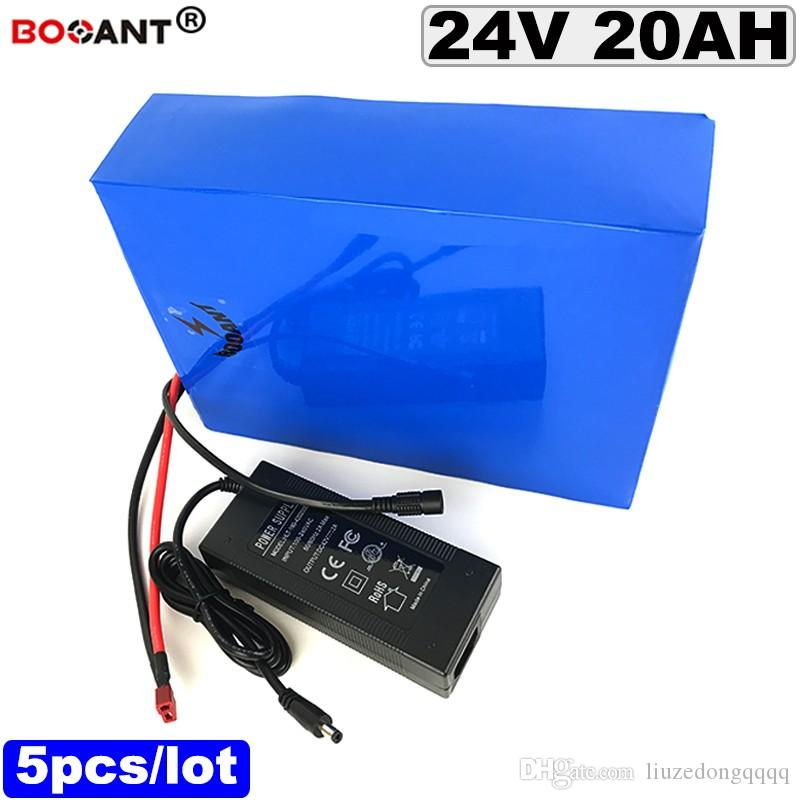 Toptan 5 adet Elektrikli bisiklet Pil 24 v 20ah ebike Lityum İyon Pil 18650 Bafang BBSHD 250 W 500 W Motor Ücretsiz Nakliye
