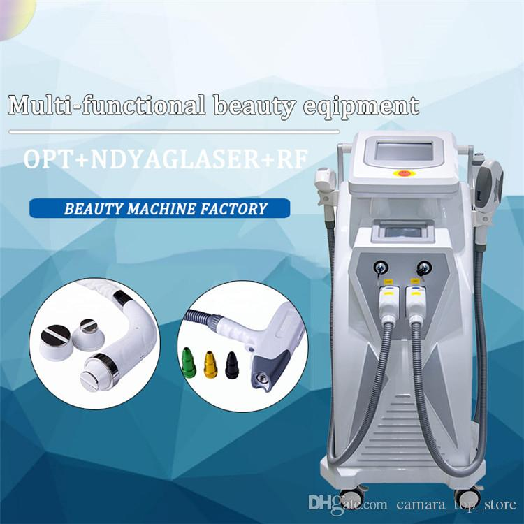 3 in 1 Multifunction Strong Energy OPT SHR IPL Laser Hair Removal ND YAG Laser Tattoo Removal Beauty Machine IPL&RF & ND YAG&Elight CE