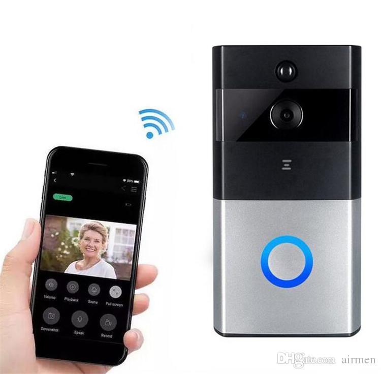 Z-BEN Porte vidéo sans fil HD PIR WIFI Sonnette Interphone 720P IP Caméra Batterie Alimentation Audio SD Card Slot Sécurité extérieure
