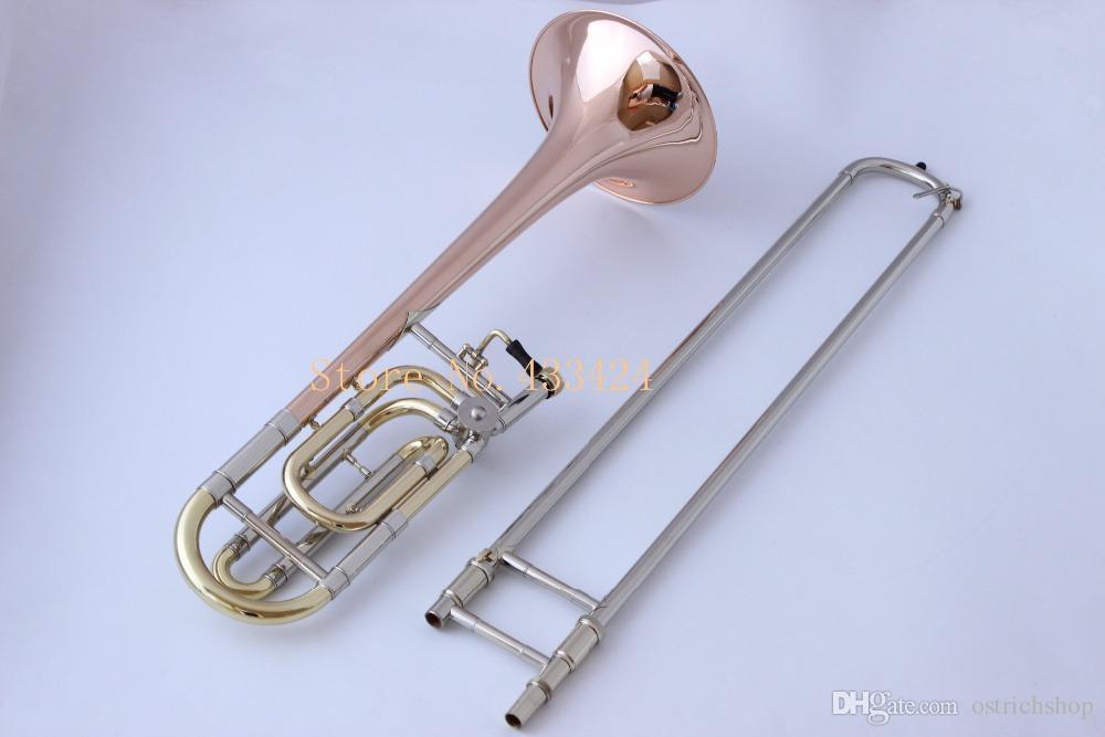 Bach Strad 42G Bb Tenore Trombone a tono variabile PROFESSIONAL F Trigger VINTAGE Fosforo bronzo