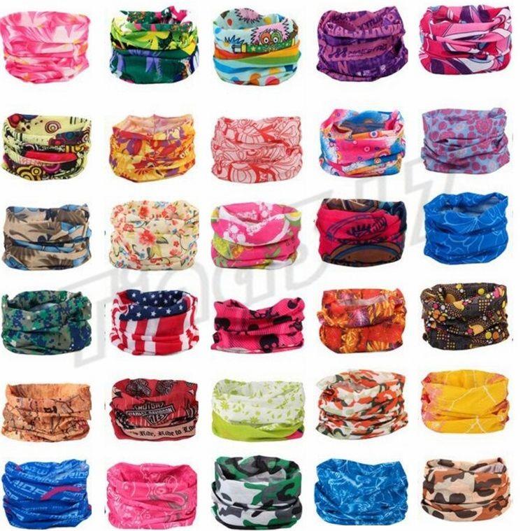 New Multifunctional scarf Outdoor Sports Headband Turban Sunscreen Magic Scarves Cycling masks Seamless men bandanas party mask C016