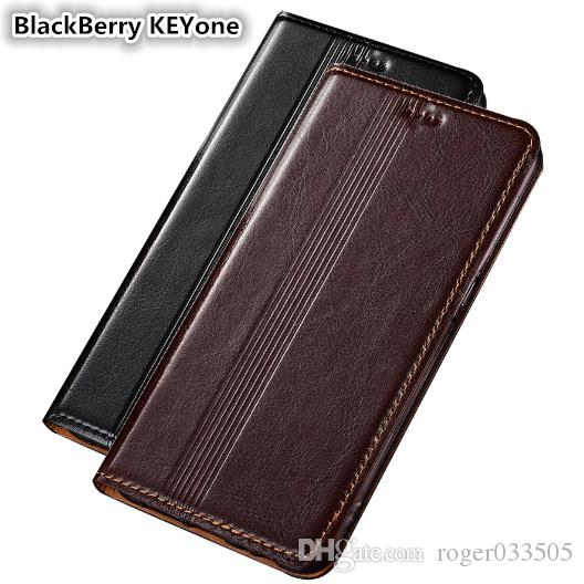 QX14 Genuine Leather Case For BlackBerry KEYone DTEK70 Cover Magnetic Case For BlackBerry KEYone Phone Case Fundas With Card Holder