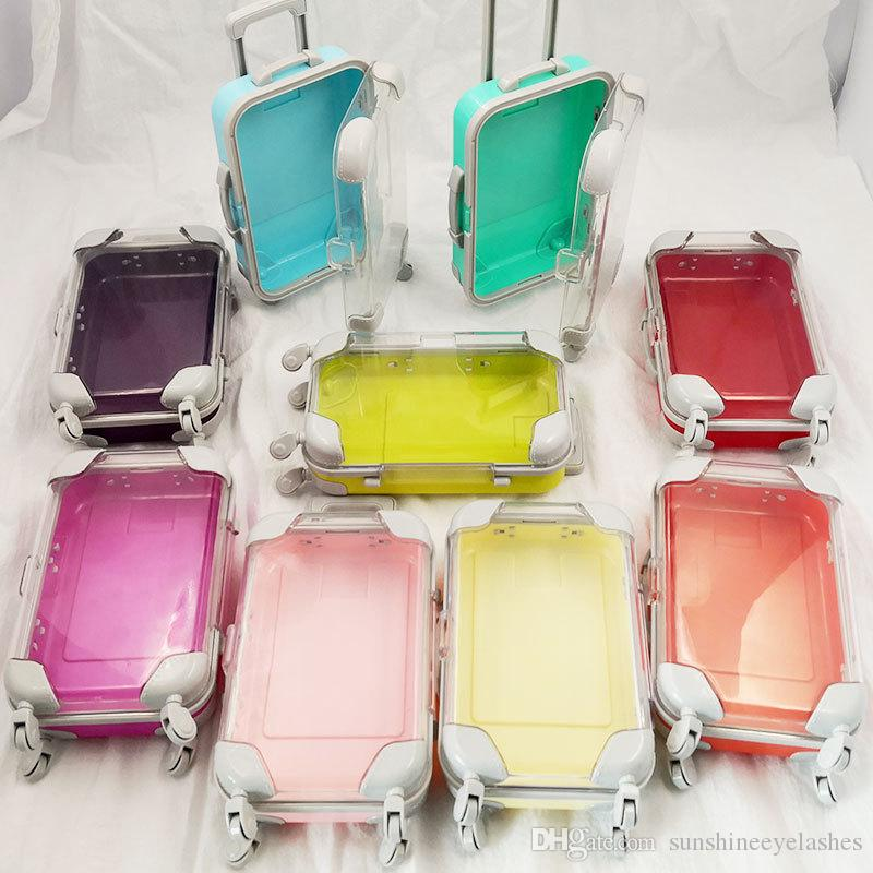Falsche Wimpern box Gepäck Verpackung Wimpern Koffer Luxus Nerz Wimpern Verpackung flauschig und lockig Fall leer