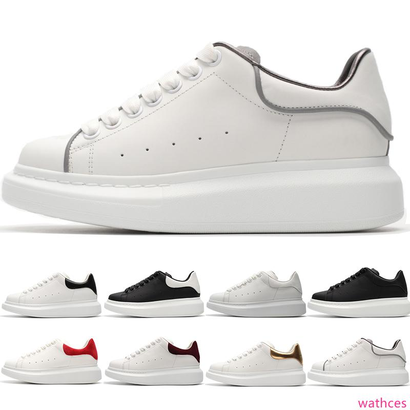 Black White Platform Classic Casual Shoes Sports Skateboarding Shoe Mens Womens Boys Girls Red Gold Fashion Sneakers Size 36-44