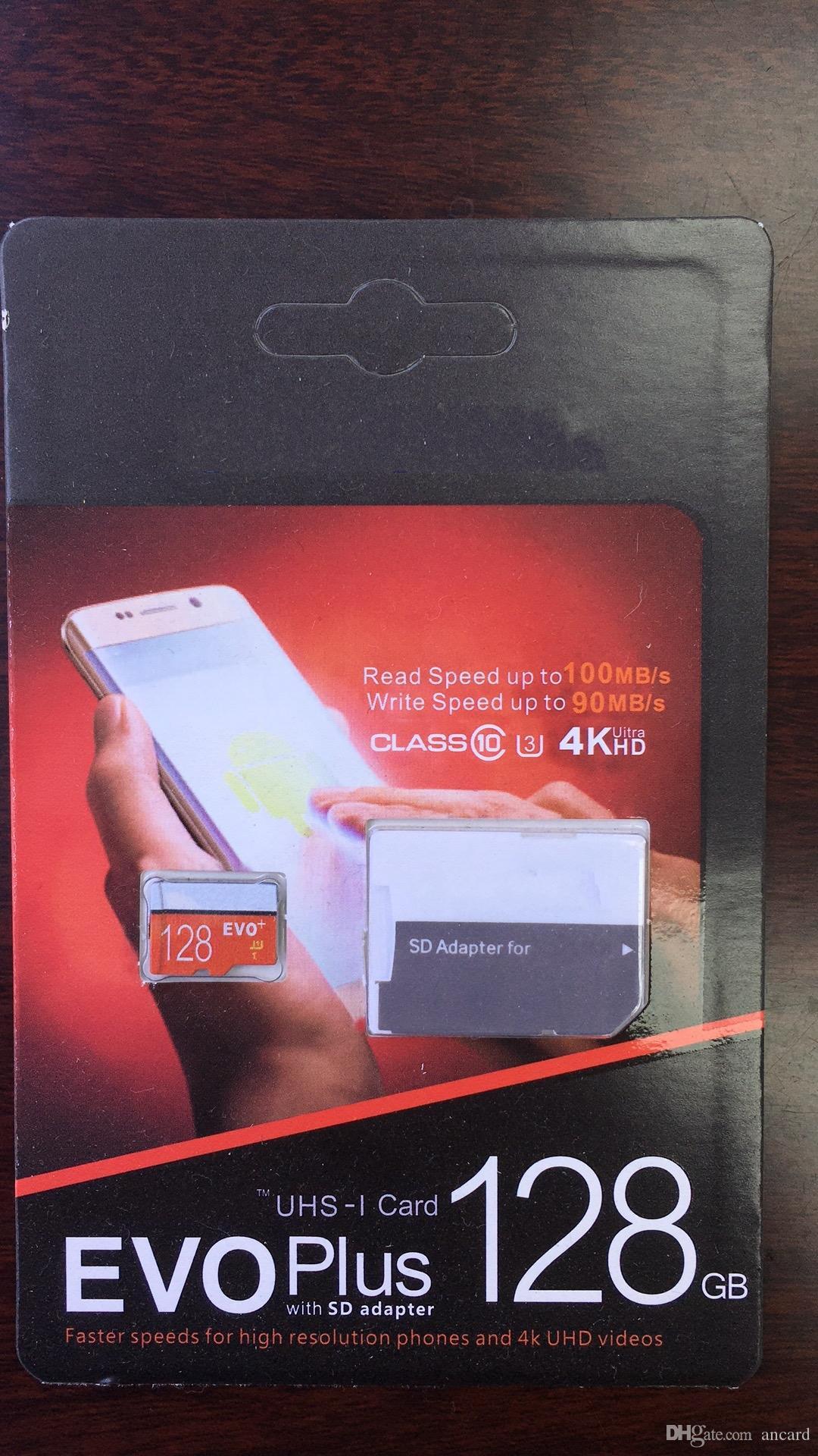 2019 최신 제품 최고 128GB 64GB 32GB EVO PRO PLUS 마이크로 SD TF 카드 95MB / s UHS-I Class10 모바일 메모리 카드