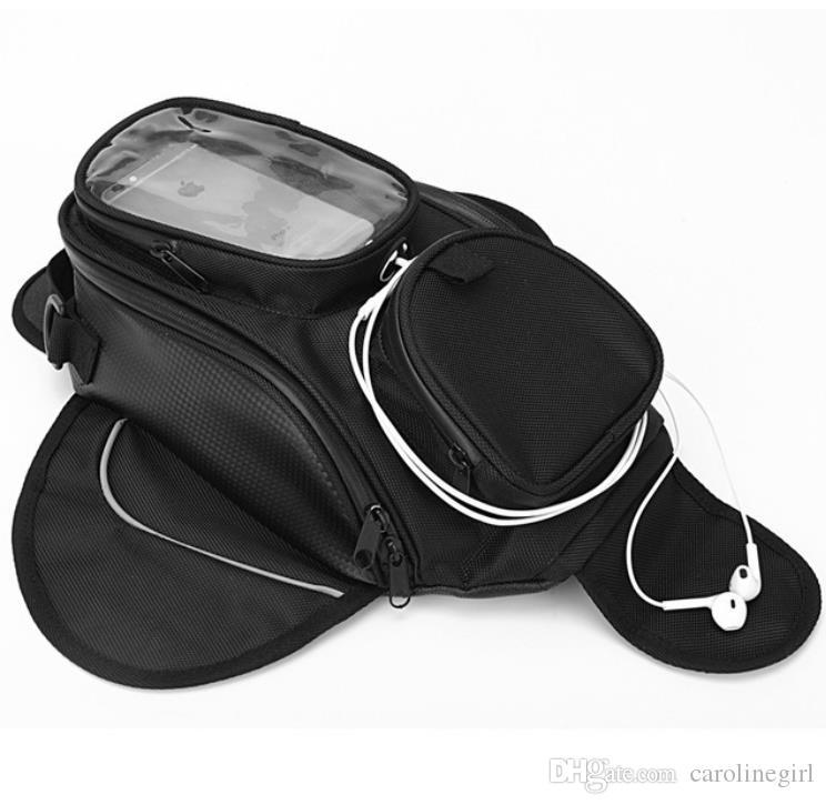 New Waterproof Motor Tank Bag Oil Fuel Tank Magnetic Motorbike Saddle Bag Single Shoulder Bag Motorcycle Backpack