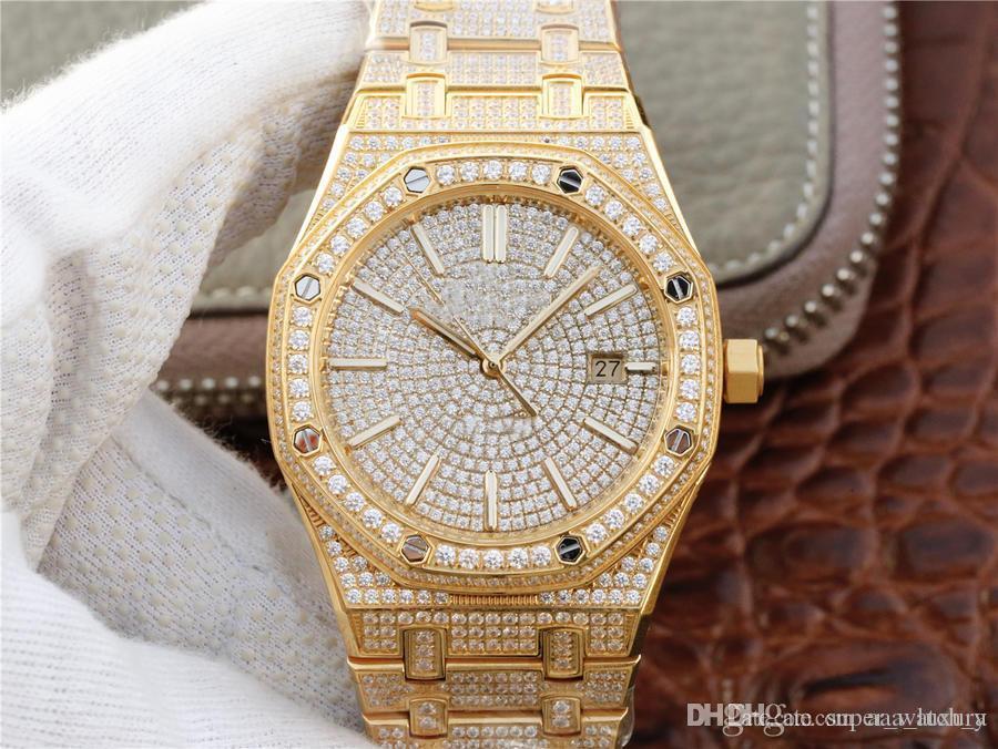 meilleure montre de diamant 1540 orologio di lusso 316L 3120 montres de mouvement mécanique automatique 41mm montres design étanche déployante