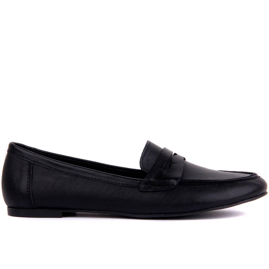 Sail-Lakers en cuir noir des Femmes Chaussures