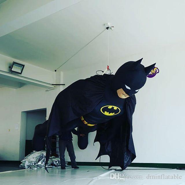 Batman Gonfiabile Gigante Nero Alto 3m con la striscia principale per la Parata della città o la decorazione di esposizione Del Partito