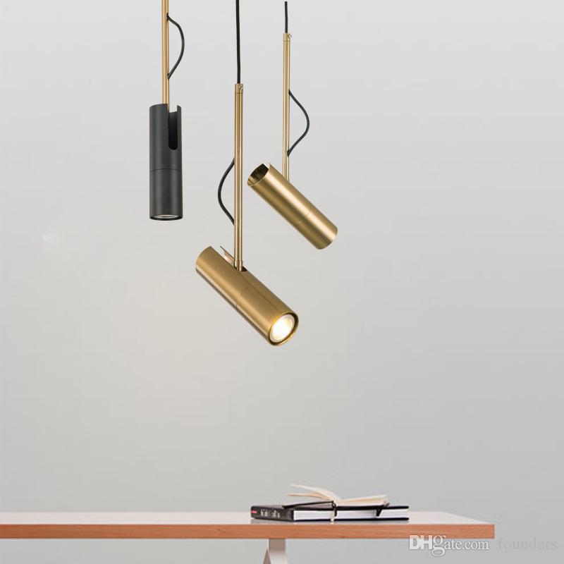 modern design pendant light LED Spot Light Fixture Nordic luminaire white/black bedside lamp hanging spotlight designer lighting