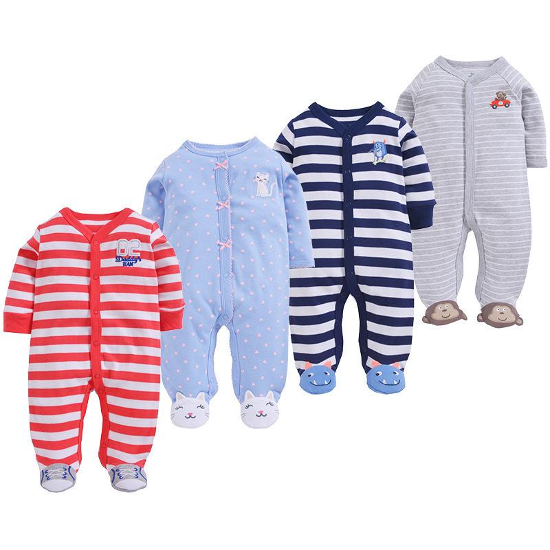 Infant Baby Boys Rompers Sleeveless Cotton Jumpsuit,Train Toys Outfit Winter Pajamas