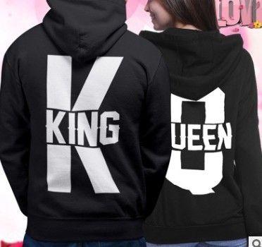RcR2g king / queen torna indietro sweatersweater incappucciati king / queen lettera stampata lettera stampata maglione con cappuccio sweatersweater