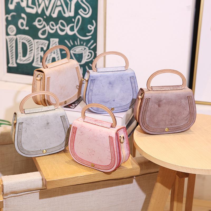 2019 Bag Original Artesanal Camada Retro Handbag Top The New couro das mulheres do couro Nevoeiro Wax Saco é um pequeno para você