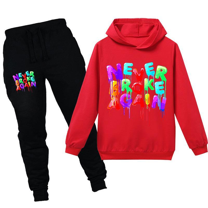 Teenmiro 2 шт. Детская одежда комплект с длинным рукавом с капюшоном толстовка брюки мальчик девочка спортивная одежда подростки хлопок спортивная одежда Детская одежда спортивный костюм