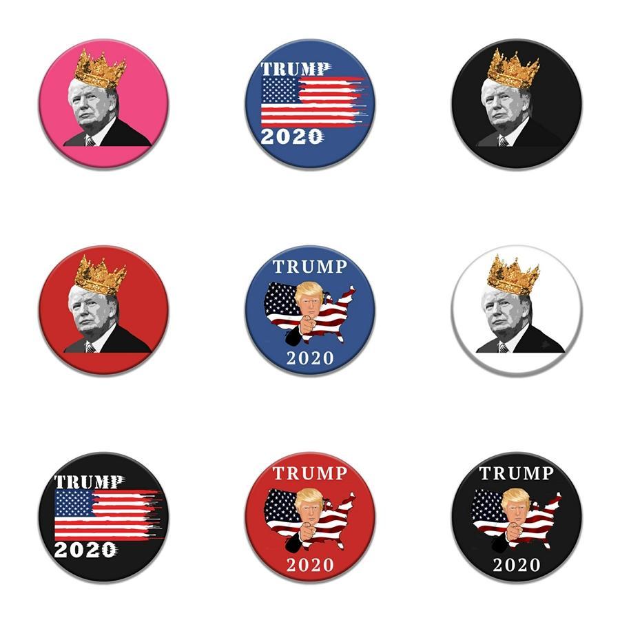 Korku Erkek Kadın Kafa Yuvarlak Broş Kesim Pim Yaratıcı Karikatür Korku Kafatası Pin Trump Badge Emaye Metal Kadınlar Aksesuar Hediyeler Zdl0620. # 620