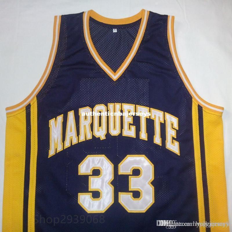 encargo baratos Jimmy Butler University Azul marino Baloncesto blanco Jersey bordado cosido Personalizar cualquier tamaño y el nombre