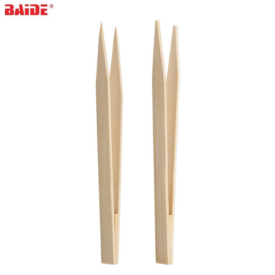15 centimetri antistatico polvere libera cuspidale bambù Pincette testina diritta pinzette pinza Strumento Elettronica per il telefono repairment 500pcs / lot