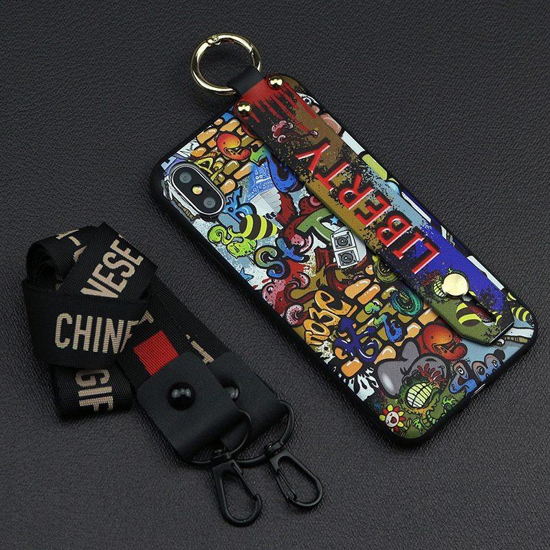 Iphone 6 için Tasarımcı Telefon Kılıfı / 6s, 6p / 6SP, 7 / 8,7p / 8p X / XS, XR, XSMax Moda Graffiti Bileklikli ile Arka Kapak Baskı 6 Stiller Toptan-1