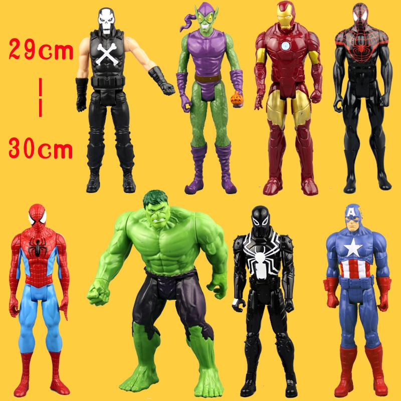 (NO Box)Free Shipping An Amazing Spider-Man Captain America Iron Man Spiderman 30CM Ultra Action Figure Toys