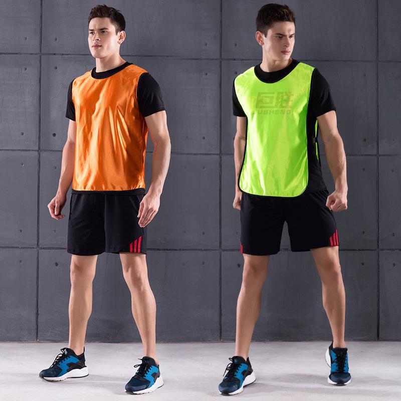 12 PCS Kinder Man schnelltrocknende Basketball Jersey Team Sports Vest Fussball Pinnies Trikots Jugend-Praxis-Trainings-Lätzchen