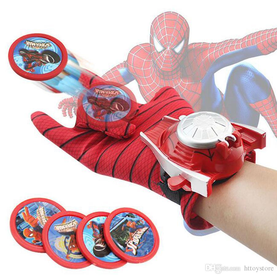 Spiderman Glove Kids Toys Homem Aranha Traje Cosplay