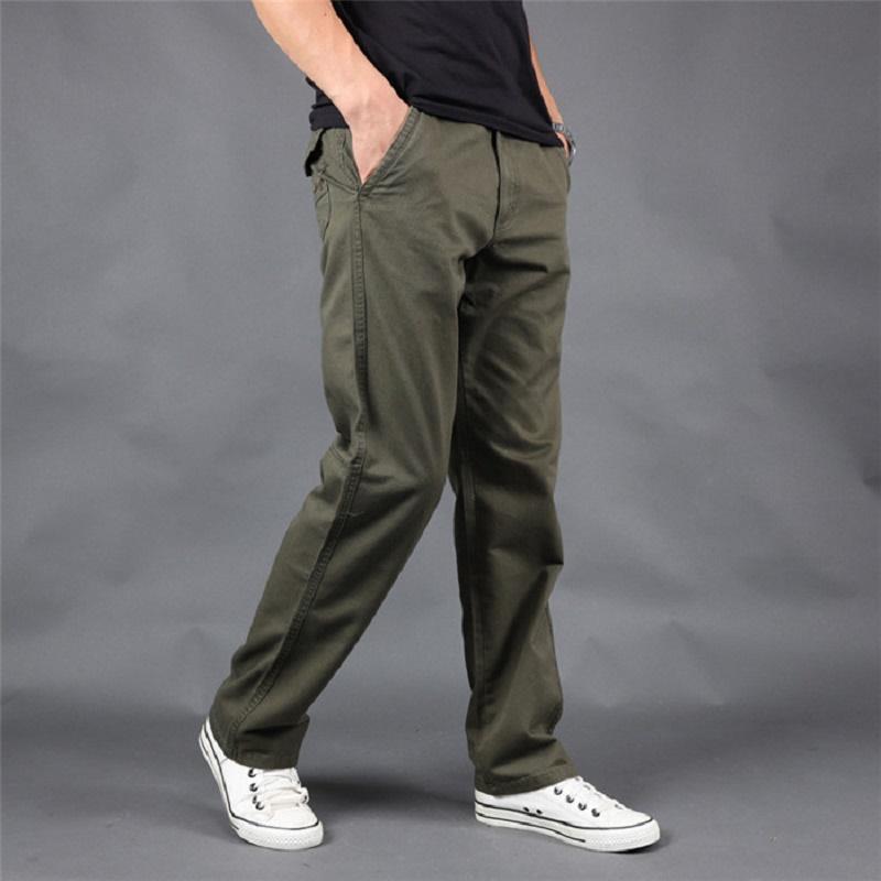 Pantalones NUEVA alta calidad Primavera pantalones casuales Hombres carga suelta pantalones de algodón para hombre Trajes de moda de gran tamaño estupendo