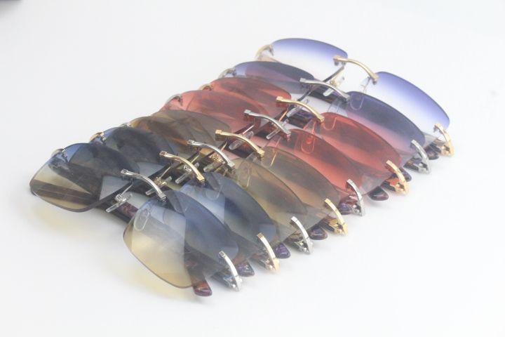 공장 도매 판매 대리석 퍼플 판자 무테 선글라스 8300816 클래식 조종사 금속 프레임 간단한 레저 선글라스 남여
