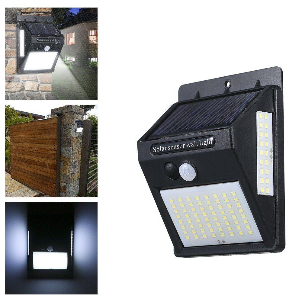 정원 잔디 거리 장식 100 LED 태양 빛 야외 태양 램프 PIR 모션 센서 벽 빛 방수 태양 전원 햇빛