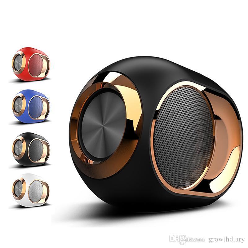 المتحدثون الموسيقى بلوتوث المحمولة سماعات ستيريو لاسلكي المحيطي سوبر HIFI مكبرات الصوت مع بطاقة TF 3.5mm AUX الكابل لعب الموسيقى