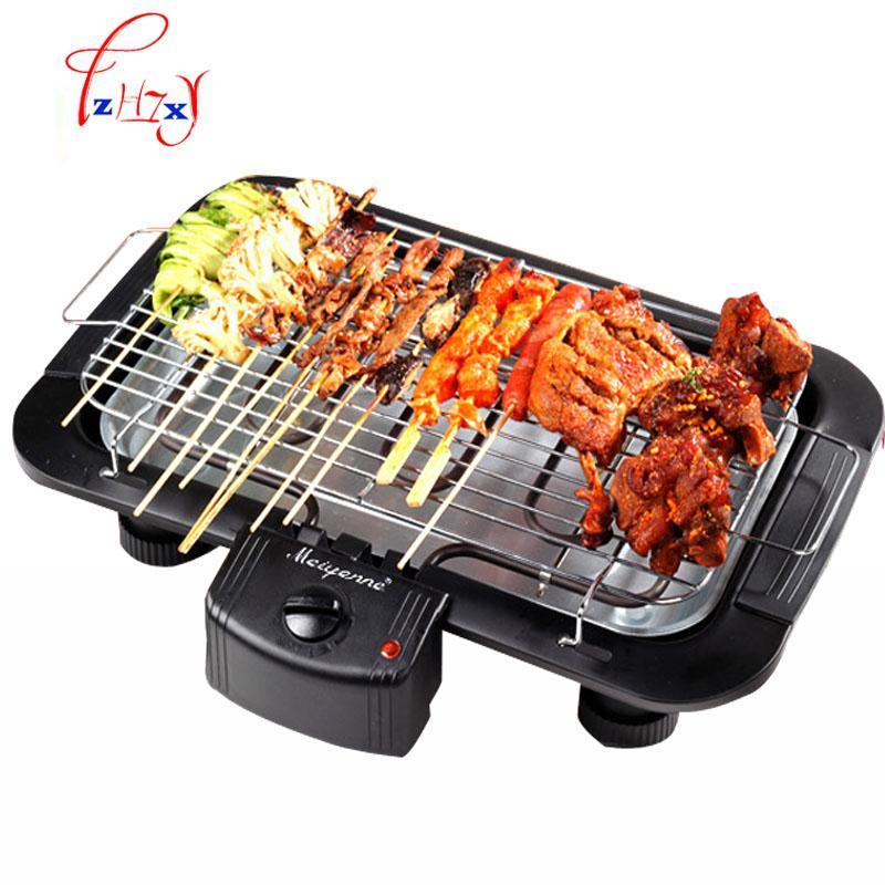 Forno elettrico 2000W elettrico senza fumo Griglia per barbecue coperta Carbon Free BBQ JBQ-01A