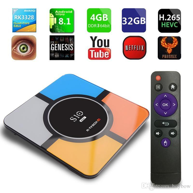 Android 9.0 TV Box 4GB 32GB Smart Set Top Box RK3328 Quad-Core 64bit Cortex-A53 Streaming Media Player 2.4G Wifi S10 Mini TVbox