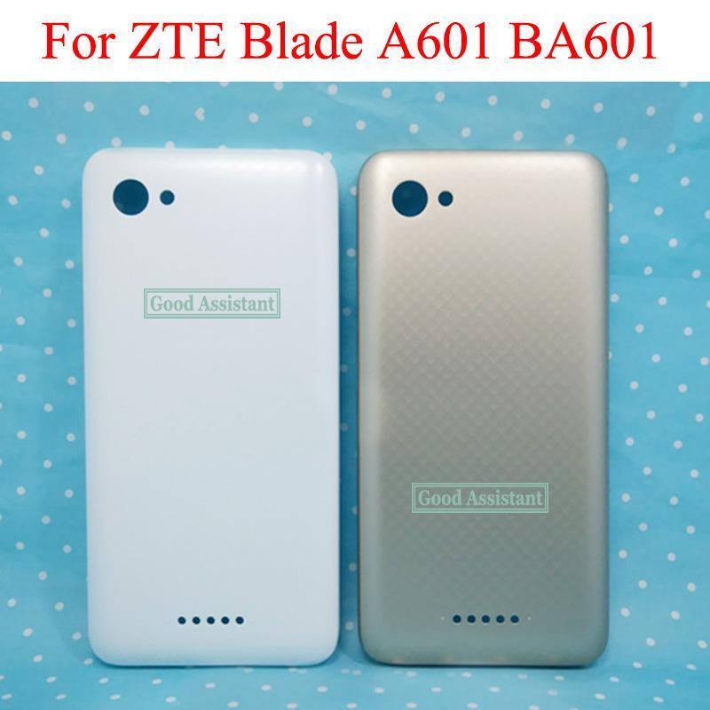 Gold / White 5.0 inch Per ZTE Blade A601 BA601 Coperchio batteria Coperchio Custodia Custodia Parti posteriori in vetro