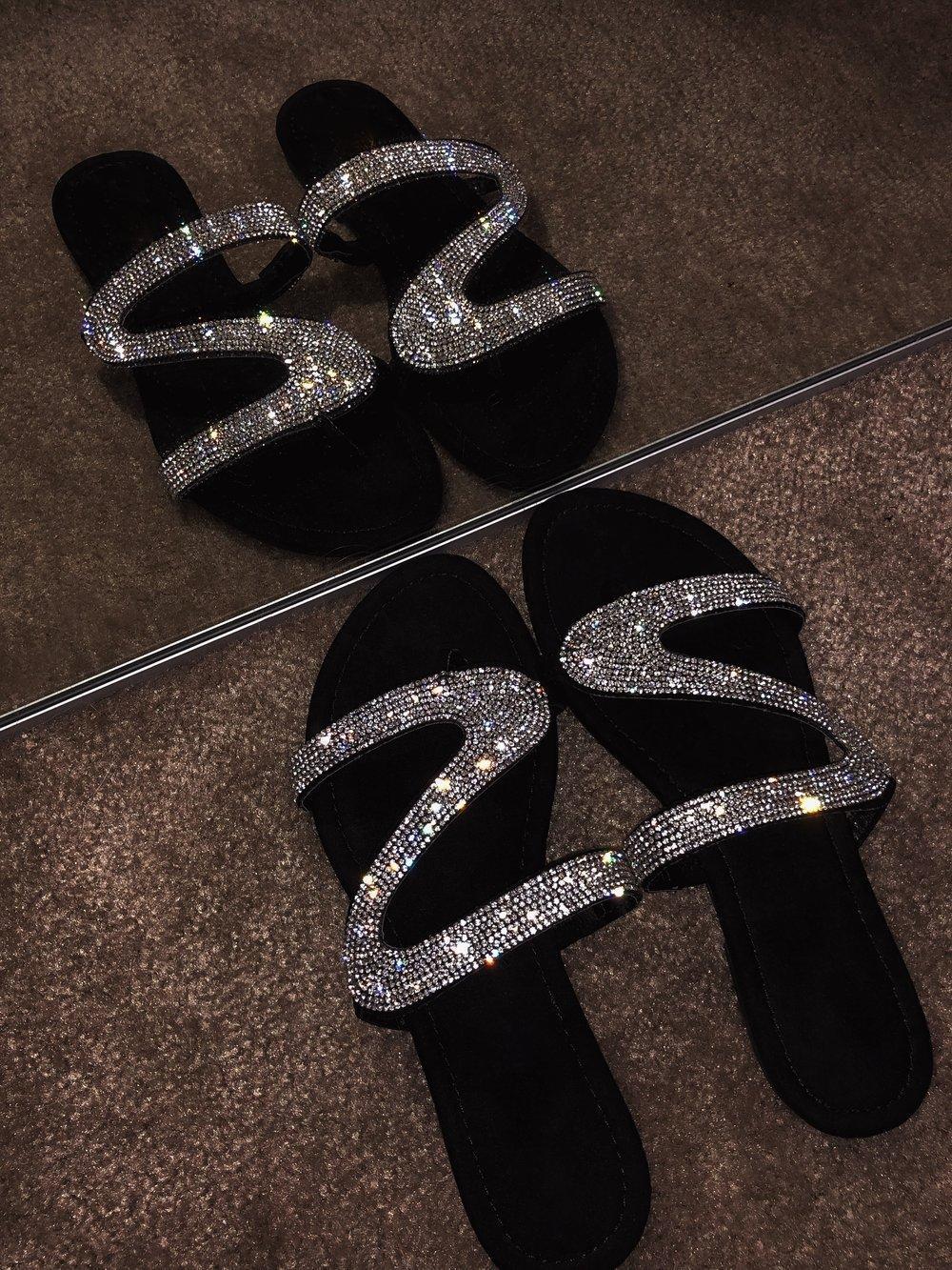 2020 nuevos zapatos de las mujeres del rhinestone de explosiones deslizadores de las sandalias sandalias de mujer de Diseño de Moda de DHL