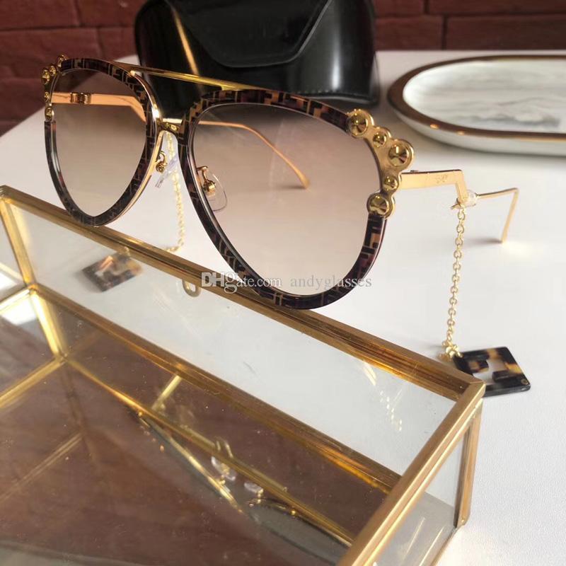 Moda Óculos Óculos de qualidade de luxo Óculos de sol Novo FF0638 Brand High Style Womens / Ladys 58mm Mosnt
