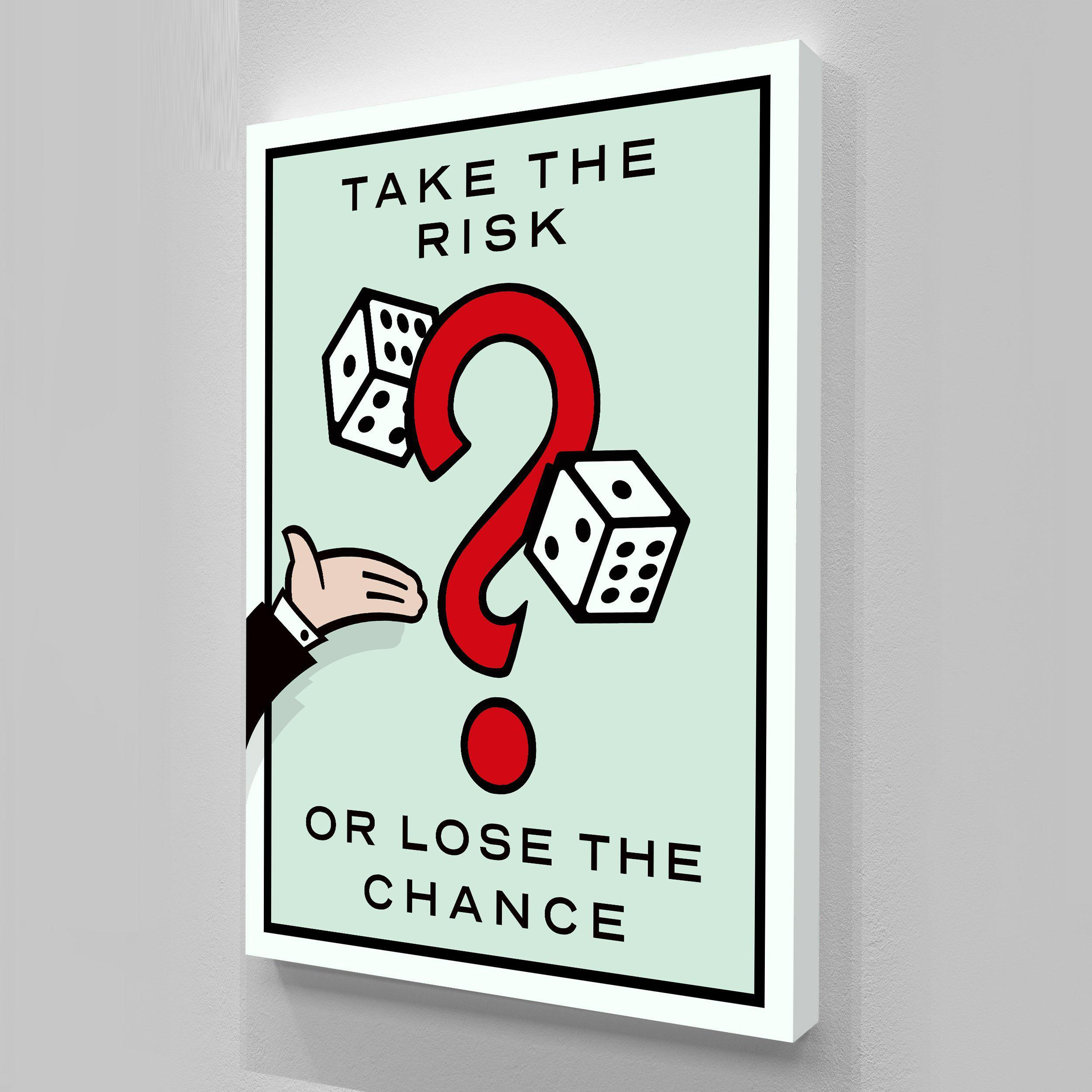 """Alec Monopoly """"Take the Risk"""" Home Decor Handpainted &HD Print Oil Painting On Canvas Wall Art Canvas Pictures 200516"""