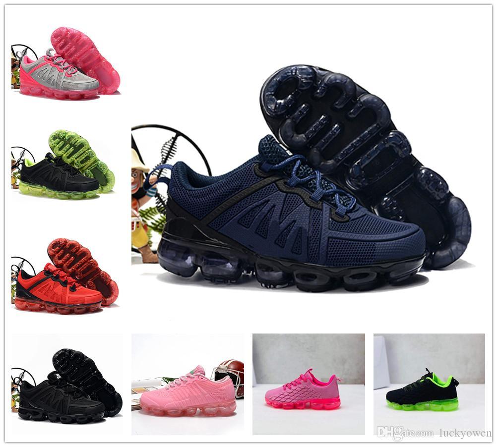2020 Knitting niño Bebé Niños portátil que ejecuta Zapatos de los niños de cojín KPU calzado deportivo Niño Niña Formación zapatillas de deporte