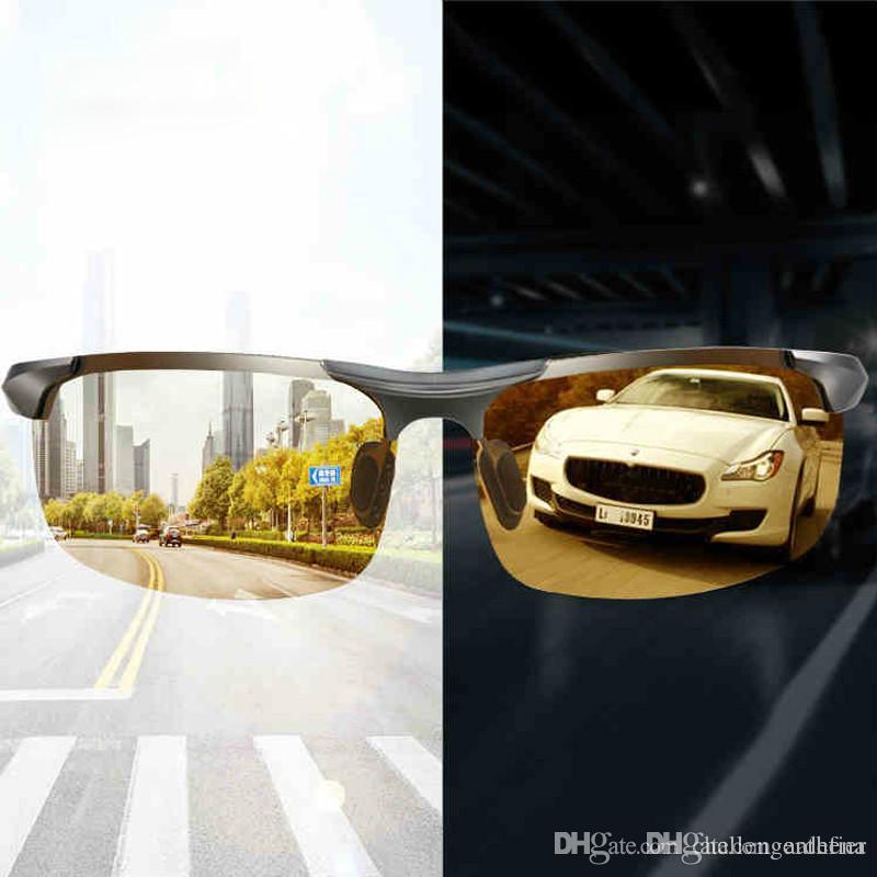Aluminium magnésium photochromiques Lunettes de soleil polarisées Night Vision Lunettes Homme Oculos Pilote Jaune Driving Lunettes Lunettes de soleil