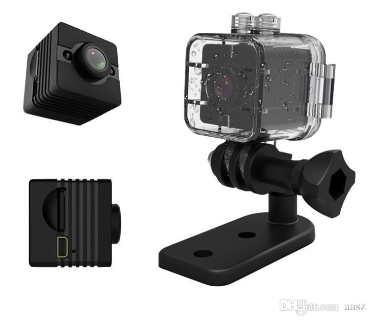 새로운 SQ12 미니 카메라 센서 나이트 비전 캠코더 모션 DVR HD 1080P 마이크로 카메라 방수 쉘 스포츠 비디오 작은 카메라