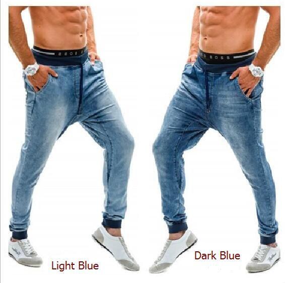 pantalon de designer Nouveau pantalon de jogging pour hommes en jeans taille haute élastique