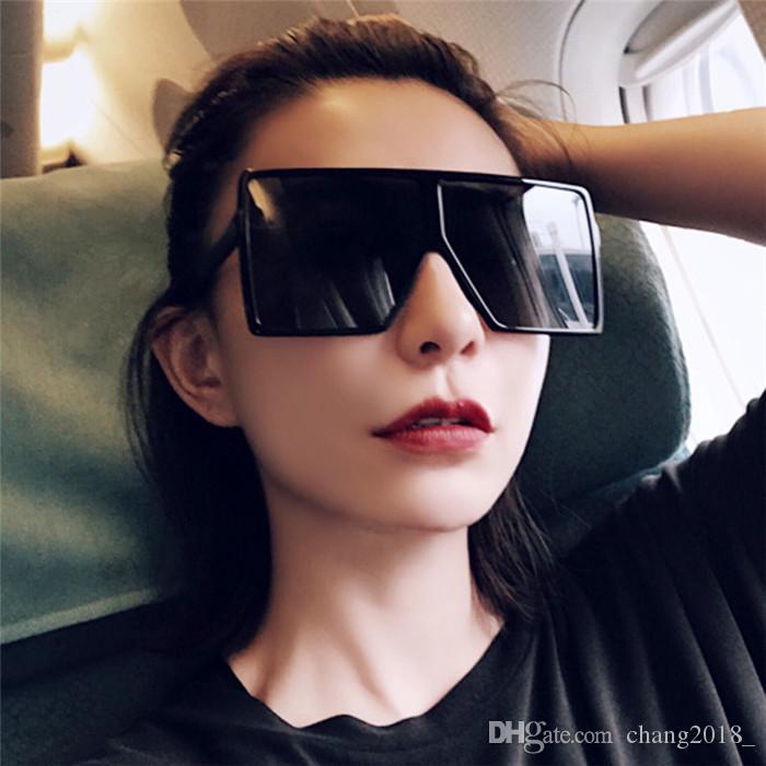 11 donne di stili occhiali da sole oversize Quadrato Sole Occhiali Big pendenza della pagina Lens Vintage marchio Sunglass per le donne Shades UV400 bldz004